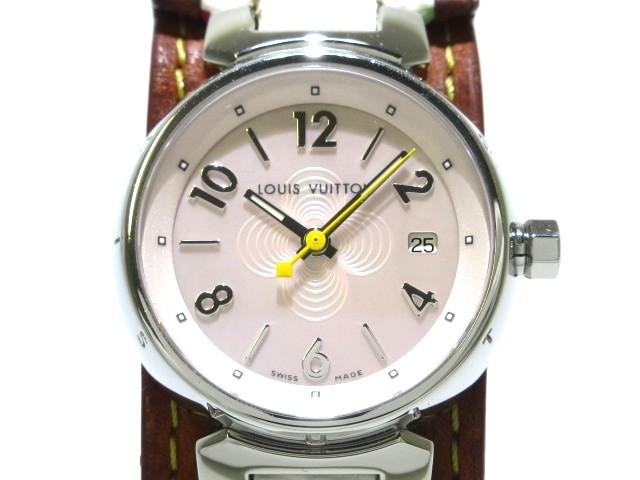ヴィトン LOUIS VUITTON 腕時計 タンブール Q1216...