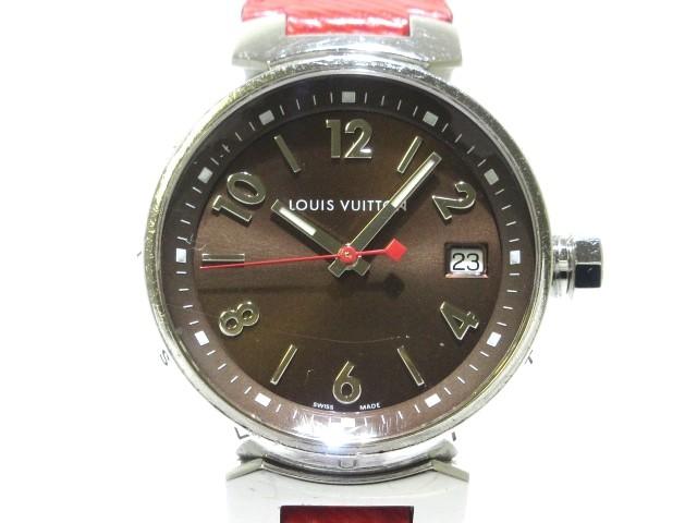 ヴィトン LOUIS VUITTON 腕時計 タンブール Q1329...