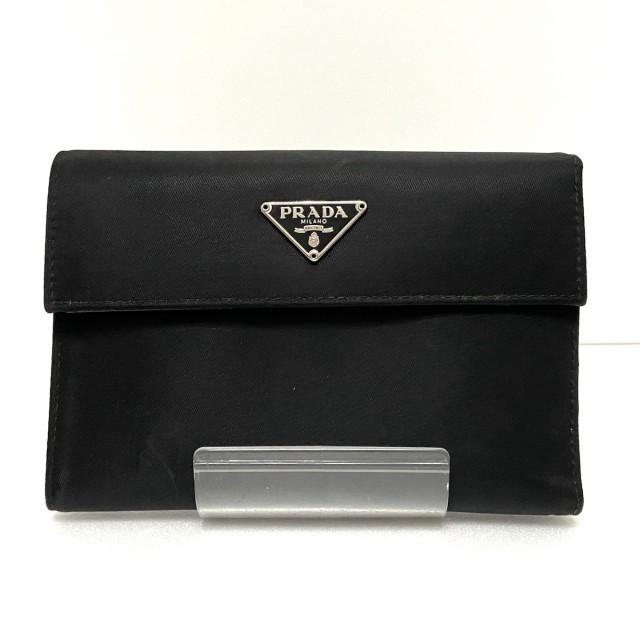 プラダ PRADA 3つ折り財布 レディース - M510 黒 ...