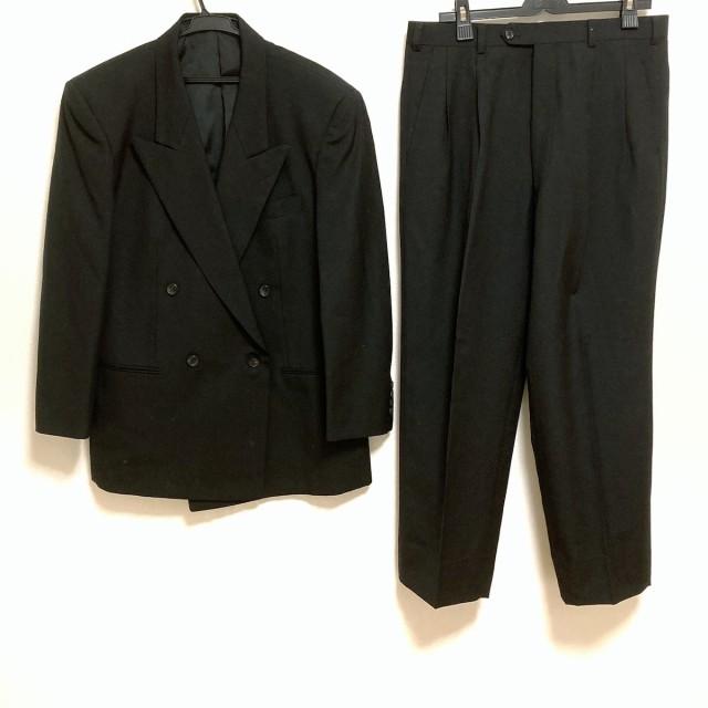 デュポン Dupont ダブルスーツ メンズ 黒 ネーム...