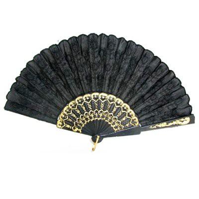 刺繍扇子(黒・黒色刺繍)