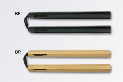 琉球空手伝来・木製八角型ロングヌンチャク(紐製)...