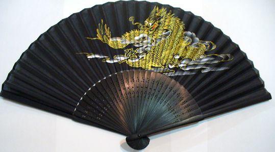 龍扇子1(シルク製)