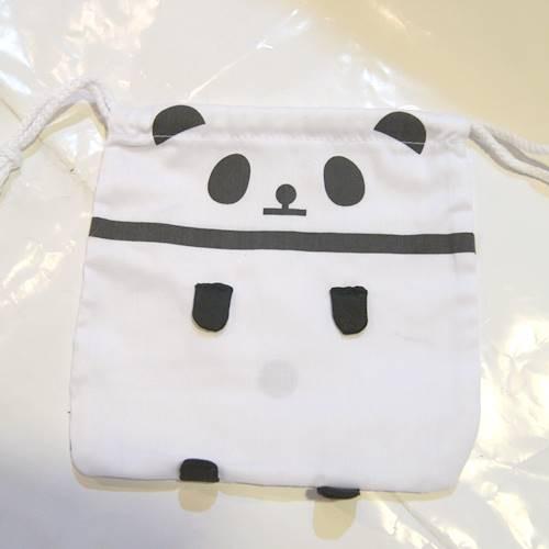 パンダ プリント巾着袋 【JKC024-2A】