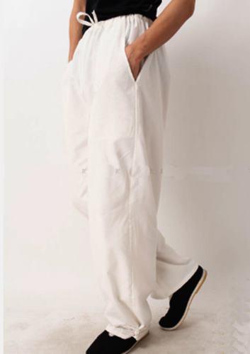 綿製 カンフー(功夫)パンツ 白色