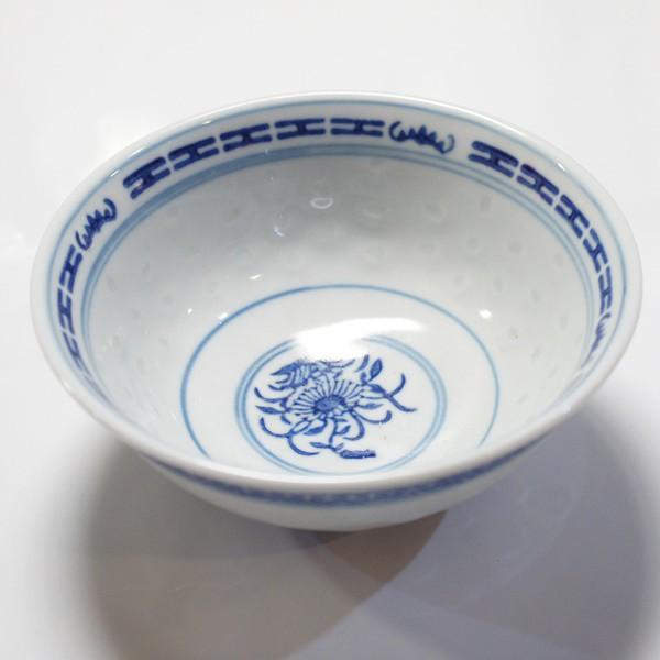 景徳鎮製 ホタル焼き 反口飯碗