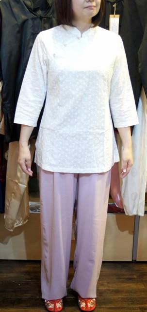 綿レース七分袖太極拳表演服 MT-T-003
