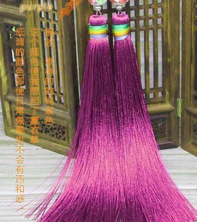 吉祥 房飾りピアス 赤紫色(全9色)