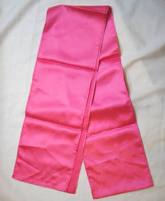 長拳用帯 腰帯 20cm×250cm ショッキングピンク色...