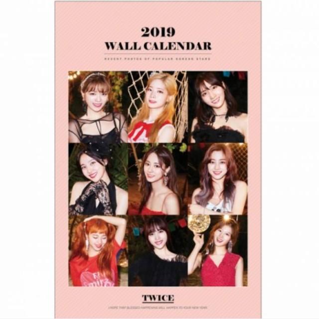 TWICE トゥワイス 2019年壁掛けカレンダー K-STAR...