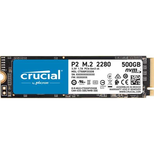 Crucial CT500P2SSD8JP Crucial M.2 2280 NVMe PC...