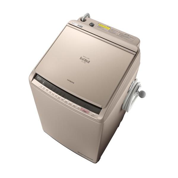 10.0kg BW-DV100C-N ビートウォッシュ 洗濯乾燥機 日立 シャンパンHITACHI