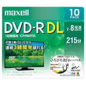 マクセル DRD215WPE.10S 8倍速対応DVD-R DL 10枚...