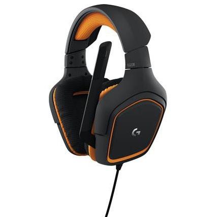 ロジクール G231 ゲーミングヘッドセット(グレー/オレンジ)Logicool G231 Prodigy Gaming Headset[G231]【返品種別A】