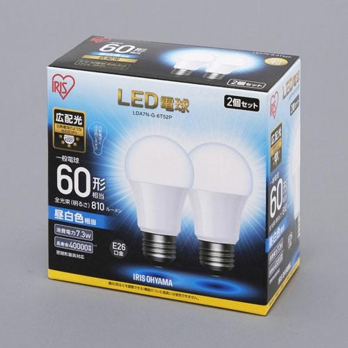 アイリスオーヤマ LDA7N-G-6T52P LED電球 一般電...