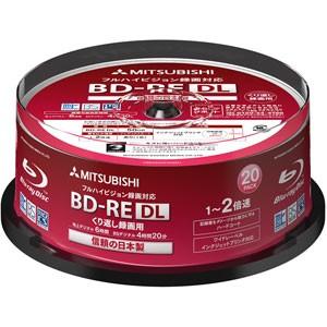 三菱化学メディア VBE260NP20SD1 2倍速対応BD-RE ...