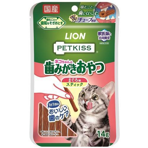 ライオン PETKISS ネコちゃんの歯みがきおやつ ま...