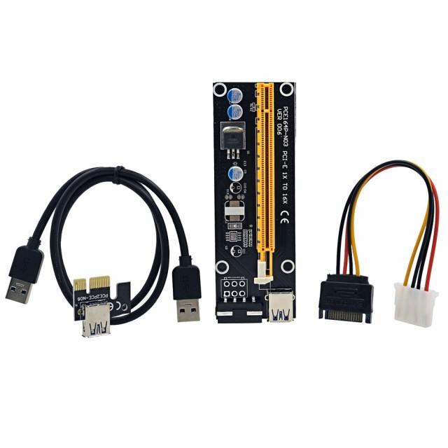 PCI ExpressライザカードPCI-E 1xから16xエクステ...
