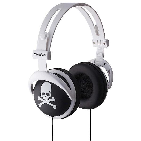 mix-style ヘッドフォン Skull-BK / スカル ブラ...
