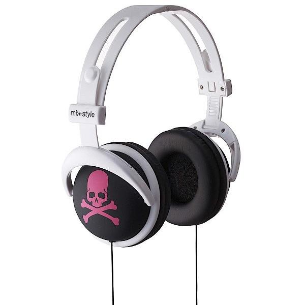mix-style ヘッドフォン Skull-BK / PK / スカル...