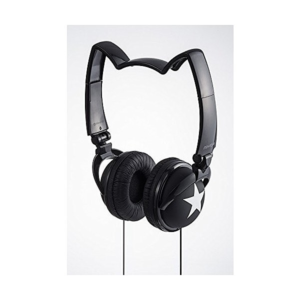 mix-style ネコミミヘッドフォン Star-BK / スタ...