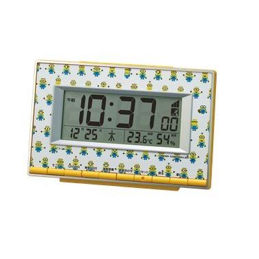 リズム時計 電波目覚時計 ミニオンR221 8RZ221ME3...