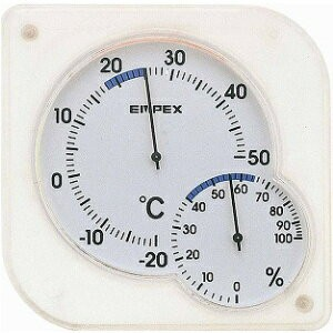 EMPEX[エンペックス]シュクレmidi温・湿度計 クリ...