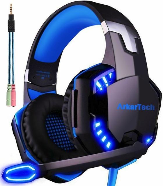 ARKARTECH G2000 ブルー ゲーミングヘッドセット...
