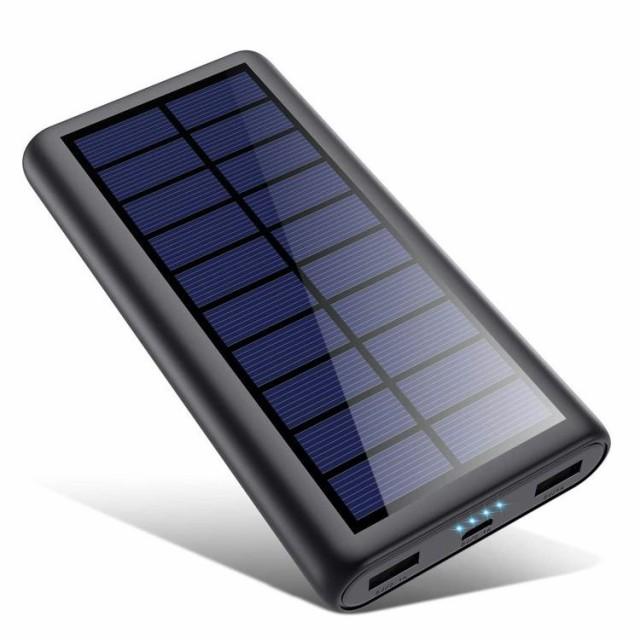 2020年最新版 モバイルバッテリー ソーラー 26800...