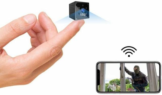 小型カメラ WiFi, 4K HD高画質 スマホ対応Wi-fi...