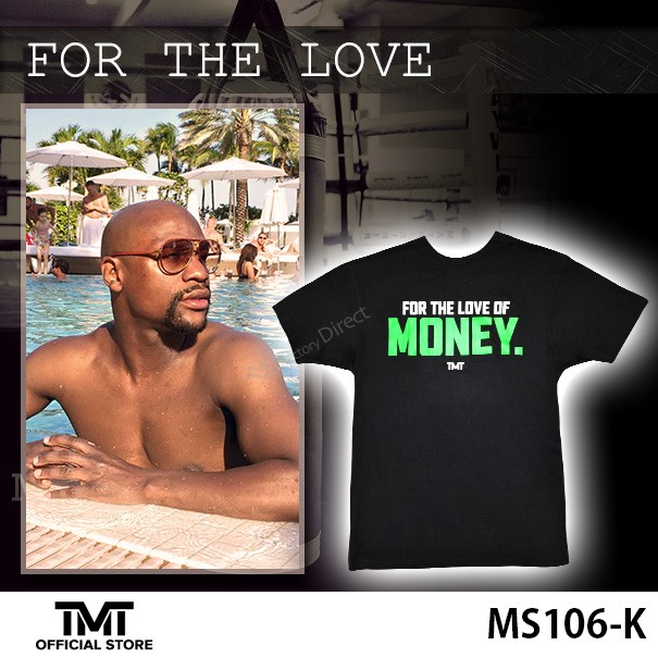 ザ・マネーチーム Tシャツ FOR THE LOVE 黒ベース...