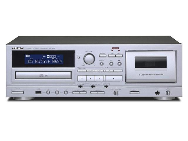 TEAC カセットデッキ CDプレーヤー AD-850-S