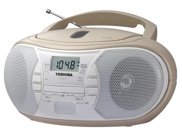 TOSHIBA 東芝 ワイドFM対応CDラジオ ベージュ TY-...