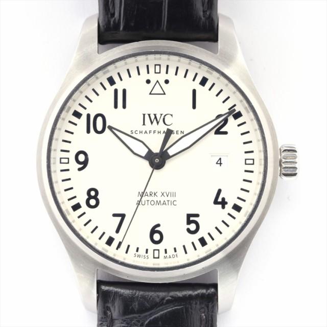 IWC マーク18 IW327002 SSx社外革 AT 白文字盤