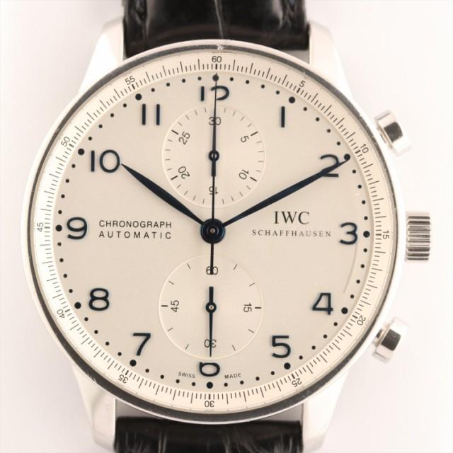 IWC ポルトギーゼ IW371446 SSx革 AT 白文字盤