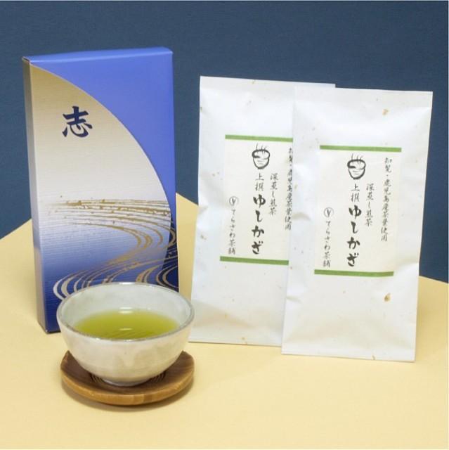 深蒸し煎茶【上撰ゆしかざ】2本セット法事・仏事...