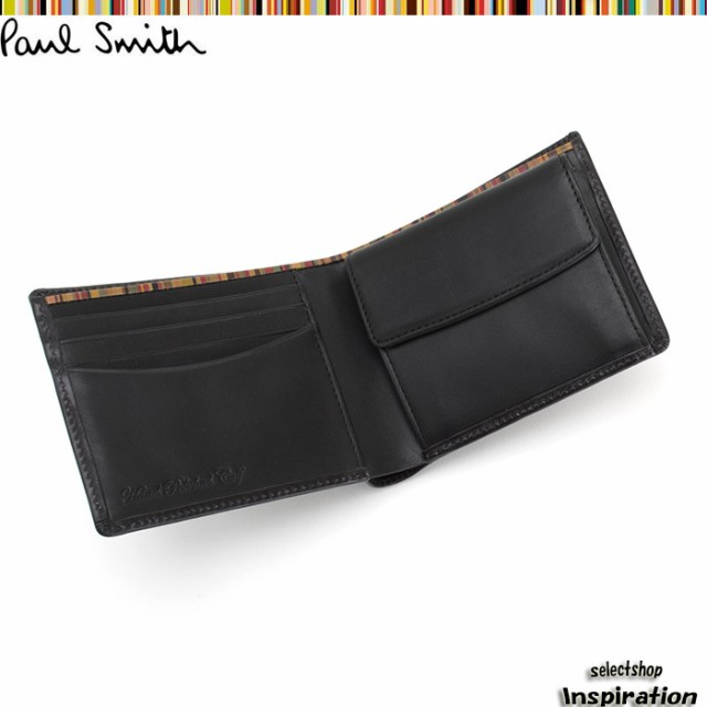 ポールスミス 財布 二つ折り財布 黒 Paul Smith p...