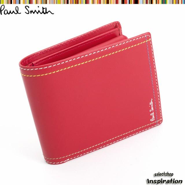 ポールスミス 財布 二つ折り財布 Paul Smith 赤 p...