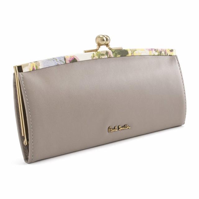 ポールスミス 財布 長財布 がま口財布 グレー Pau...