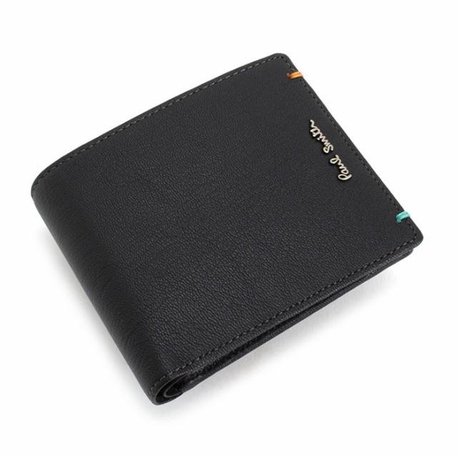 ポールスミス 財布 二つ折り財布 ブラック Paul S...
