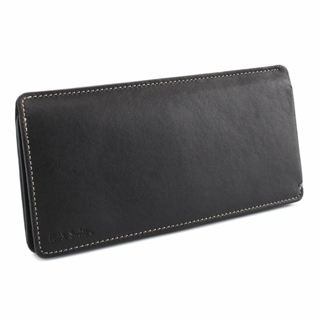 ポールスミス 財布 長財布 カード&札 黒/グリーン...
