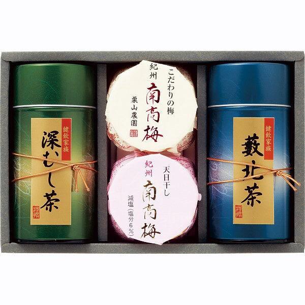 ギフト 紀州南高梅・静岡銘茶詰合せ/UMN-40