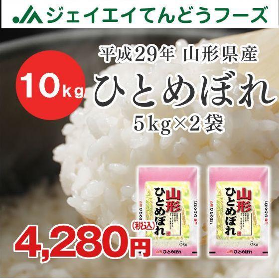 米 お米 山形県産 ひとめぼれ 精米 10kg(5kg×2袋) 平成29年産 ※注文から5営業日前後で発送