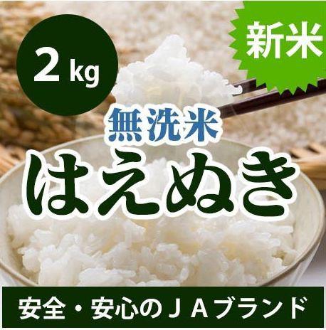 【送料無料】 山形県産 はえぬき 無洗米 2kg 平成...