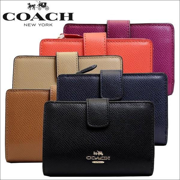 [あす着]コーチ COACH 財布 二つ折り財布 ブラッ...