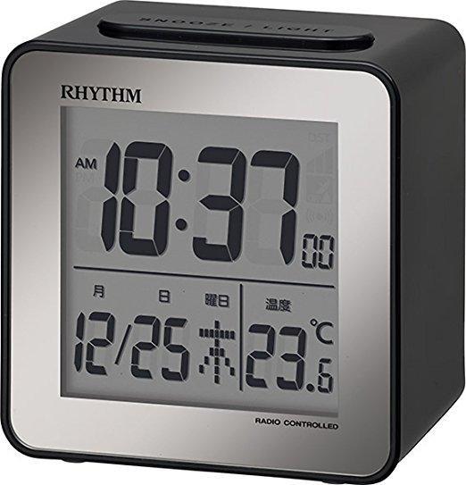 RHYTHM リズム 電波目覚まし時計 ブラック  8RZ15...
