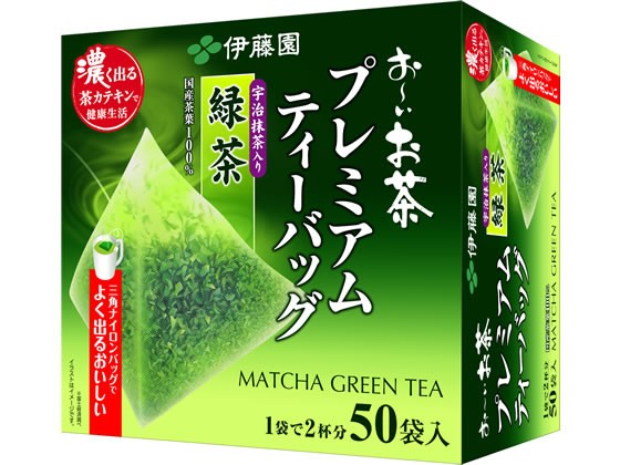 お〜いお茶プレミアムティーバッグ抹茶入り緑茶50...