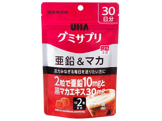 UHAグミサプリ 亜鉛&マカ 30日分 60粒 UHA味覚糖