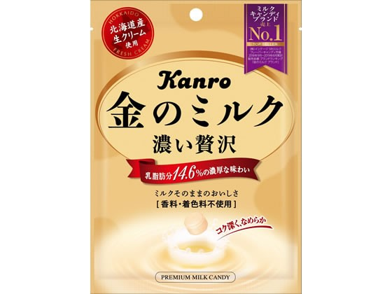 濃い贅沢 金のミルク 80g カンロ