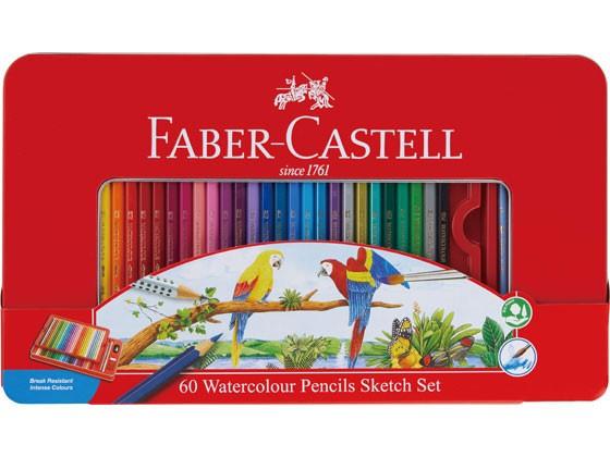 ファーバーカステル 水彩色鉛筆 60色セット シヤ...